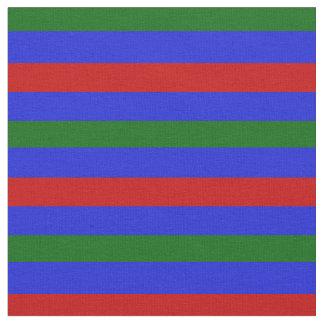 Königsblau, Inselgrün, roter Stängel, Streifen Stoff