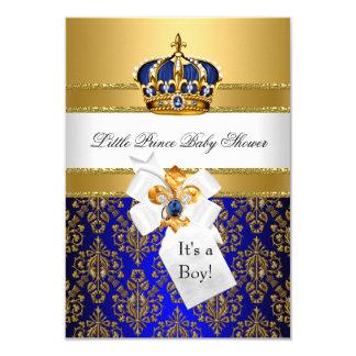 Königsblau kleine Babyparty Prinz-Crown lädt ein Karte