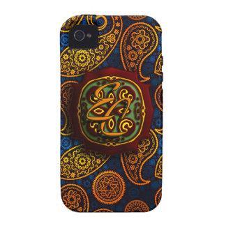 Königsblau Paisley iPhone 4 Cover