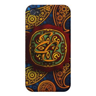 Königsblau Paisley iPhone 4 Etui