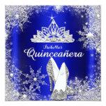 Königsblau Quinceanera silberne Tiara-15. Personalisierte Ankündigung