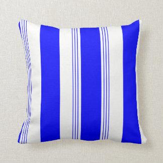 Königsblau-Süßigkeits-Striped u. festes Kissen