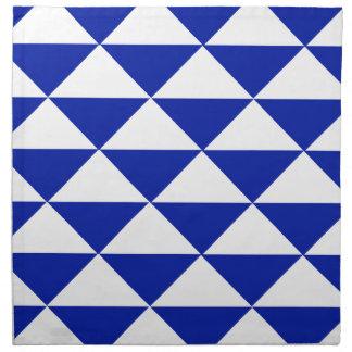 Königsblau-und Weiß-Dreiecke Serviette