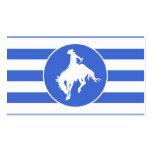 Königsblau-und Weiß-Streifen; Rodeo-Cowboy Visitenkarten