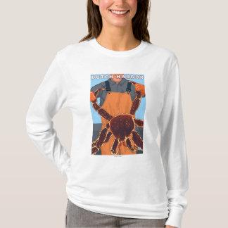 Königskrabbe-Fischer - niederländischer Hafen, T-Shirt