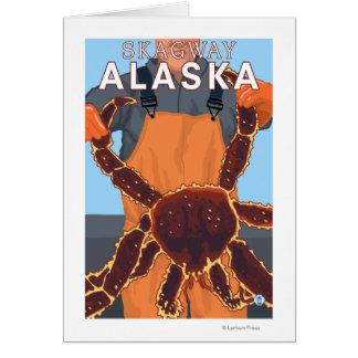 Königskrabbe-Fischer - Skagway, Alaska Karte