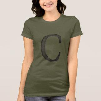 Konkreter Monogramm-Buchstabe C T-Shirt