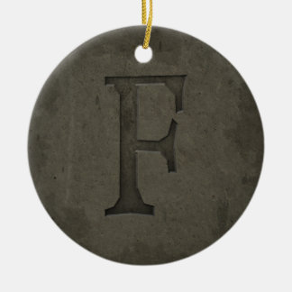 Konkreter Monogramm-Buchstabe F Keramik Ornament