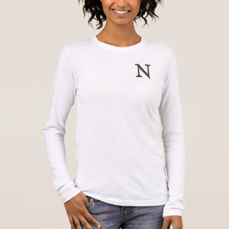 Konkreter Monogramm-Buchstabe N Langarm T-Shirt