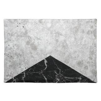 Konkreter Pfeil-Schwarz-Granit #844 Stofftischset