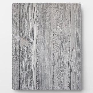 Konkretes Holz Fotoplatte