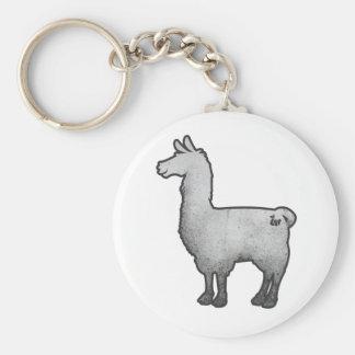 Konkretes Lama Keychain Standard Runder Schlüsselanhänger