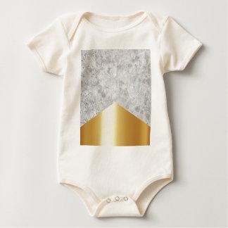 Konkretes Pfeil-Gold #372 Baby Strampler