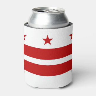Können Sie cooler mit Flagge von Washington DC, Dosenkühler