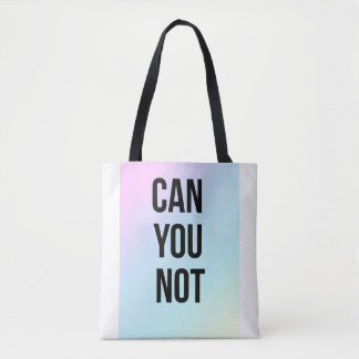 Können Sie nicht weiß und schwarze Tasche