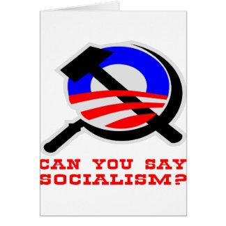 Können Sie ~ Obama ~ Sozialismus sagen? Karte