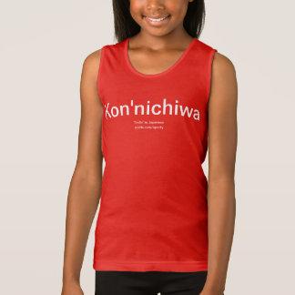 "Kon'nichiwa ""hallo"" im japanischen Shirt"