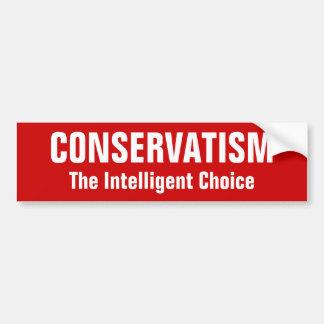 KONSERVATISMUS, die intelligente Wahl Autoaufkleber