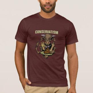 Konservatismus: Stier-Umhüllungs-Abendessen des T-Shirt