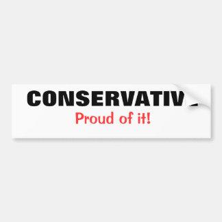 Konservativ Autoaufkleber