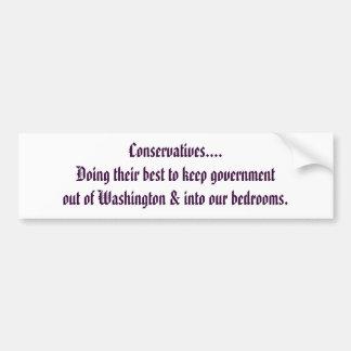 Konservative… Autoaufkleber
