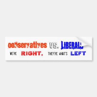 Konservative gegen Liberal-Aufkleber Autoaufkleber