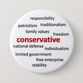 Konservative Philosophie und Werte Runder Button 7,6 Cm