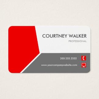 Konservative rote besonders anfertigen-fähige visitenkarte