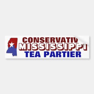 Konservativer Mississippi-Tee Partier Autoaufkleber