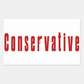 Konservativer mit einem Gewehr (rot) Rechteckiger Aufkleber