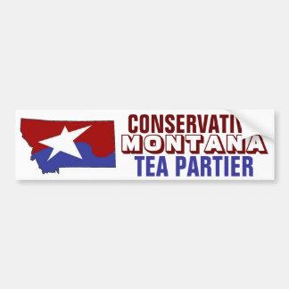 Konservativer Montana-Tee Partier Autoaufkleber