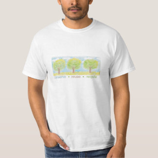 Konservieren Sie, verwenden Sie wieder, bereiten T-Shirt
