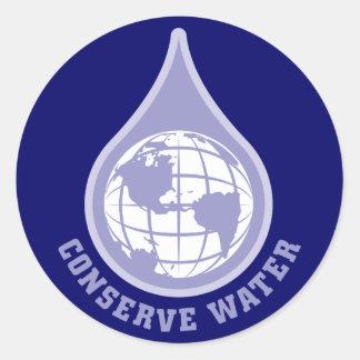 Konservieren Sie Wasser Runder Aufkleber