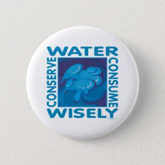 Konservieren Sie Wasser Runder Button 5,1 Cm