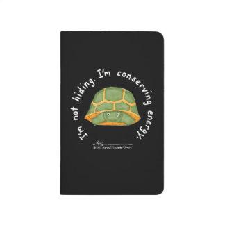 Konservierenenergie-schwarze Taschen-Zeitschrift Taschennotizbuch