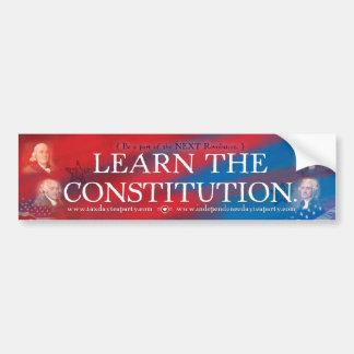Konstitutions-Autoaufkleber Autoaufkleber