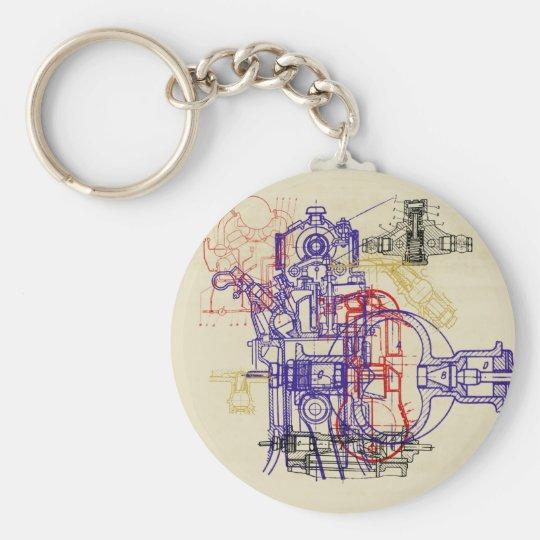 Konstruktionszeichnung engineering drawing schlüsselanhänger