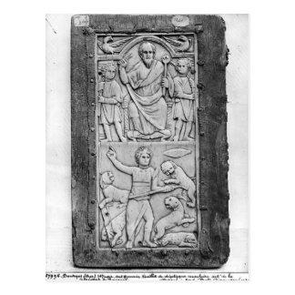 Konsulats- Diptych von Aetius, links Handplatte Postkarte
