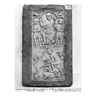 Konsulats- Diptych von Aetius, rechte Platte Postkarte