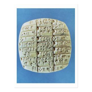 Konten legen mit keilförmigem Skript, c.2400 BC Postkarte