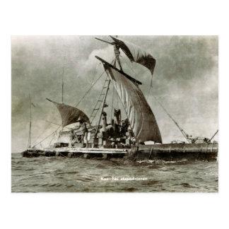 Kontiki Expedition, Thor Heyerdahl, 1947 Postkarte