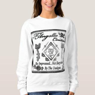 Kontrastierendes schwarzes/weißes Blumen Sweatshirt