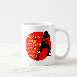 Kontrolle Ihr Gefühl Ninja oder es wird Kontrolle Kaffeetasse