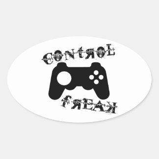 Kontrollen-Freak Ovaler Aufkleber