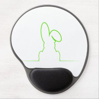 Kontur eines Hasen hellgrün Gel Mousepad