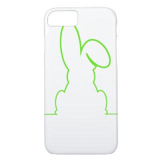 Kontur eines Hasen hellgrün iPhone 8/7 Hülle
