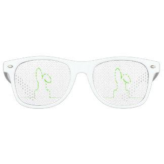 Kontur eines Hasen hellgrün Partybrille