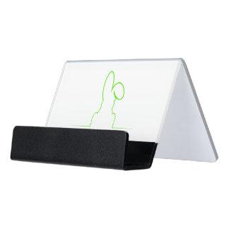 Kontur eines Hasen hellgrün Schreibtisch-Visitenkartenhalter