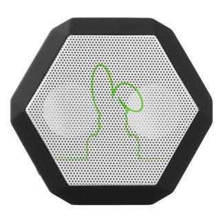 Kontur eines Hasen hellgrün Schwarze Bluetooth Lautsprecher