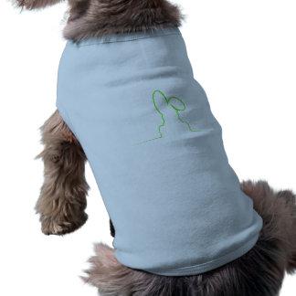 Kontur eines Hasen hellgrün Shirt